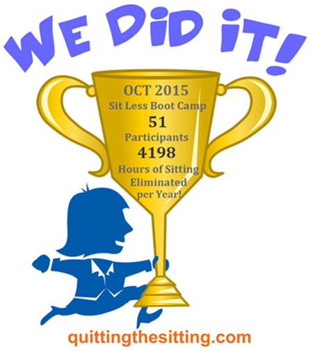 Sit Less Boot Camp Trophy Oct 2015